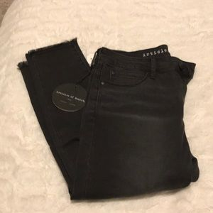 Articles of Society Black Raw Hem Jeans